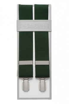 Plain Green Trouser Braces